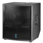 "Yorkville LS801P Elite 18"" 1500w Powered Subwoofer"