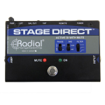Radial STAGEDIRECT Active DI Box w/Footswitch Mute