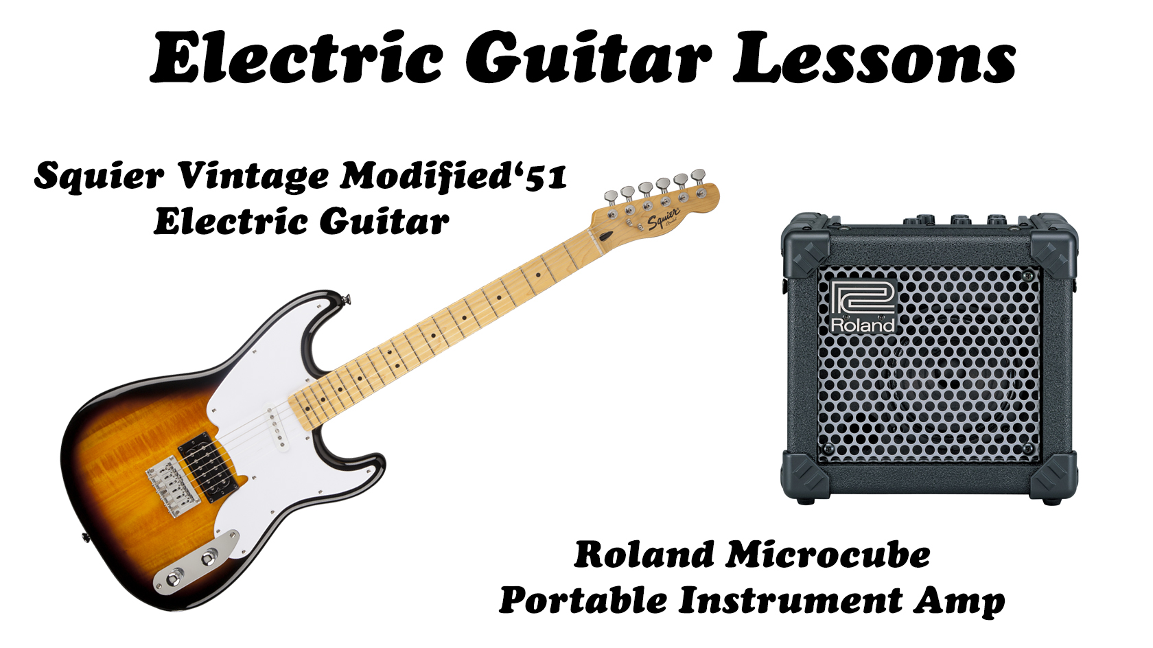 Electric Guitar Lessons Package