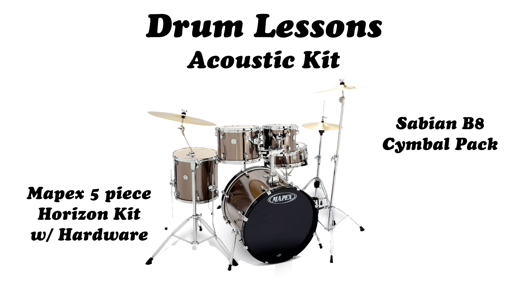 Acoustic Drum Lessons Package