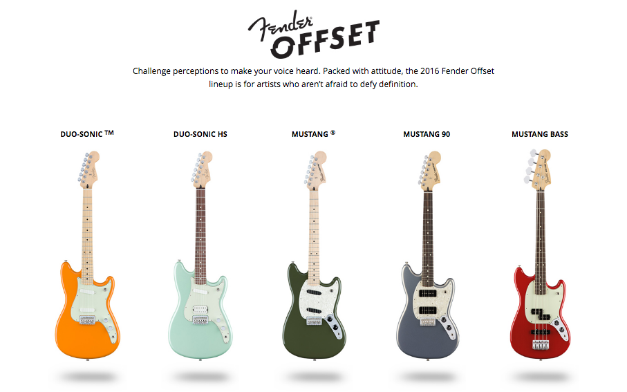 2016 Fender Offset Special