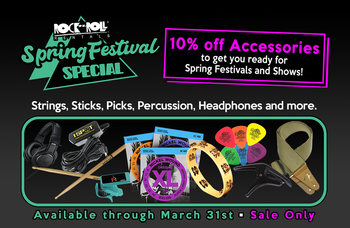 March: Festival Accessories Special! 10% OFF Accessories!