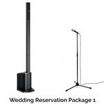 Rock n Roll Rentals WEDRESPKG1 Wedding Reservation Package 1   Portable PA