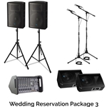 Rock n Roll Rentals WEDRESPKG3 Wedding Reservation Package 3 Portable PA