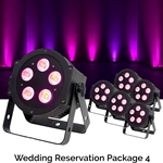Rock n Roll Rentals WEDRESPKG4 Wedding Reservation Package 4 Uplighting Package