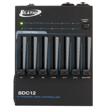 Elation Basic 12-Channel DMX Contoller with Optional Battery Power (SDC12)