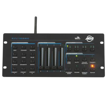 American DJ Compact DMX-512 Controller Compatible for WiFly Control (WIFLYRGBW8C)