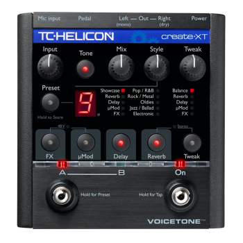 Tcelectronic CREATEXT Vocal Processor Pedal