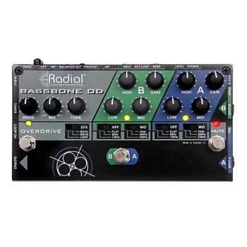 Radial BASSBONEOD 2ch Bass Preamp Pedal w/Overdrive