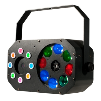 American DJ Multi-Effects Light with LED Gobos, Lasers and Strobe FX (STINGERGOBO)