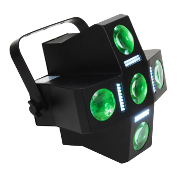 American DJ Multi-FX LED Light with Moonflower, Strobe and other FX (FUNFACTORLED)