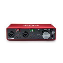 Focusrite Scarlett2i2 3rd Generation2 Channel USB-C Audio Interface