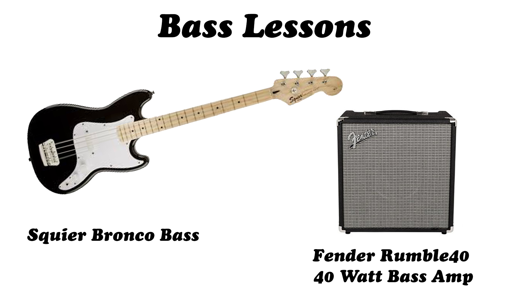 Bass Guitar Lessons Package